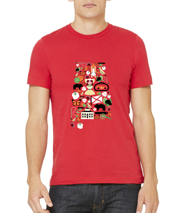 Standard Red Alabama Icon Map - Alabama Pride History Civil War Southern T-shirt