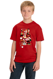 Youth Red Alabama Icon Map - Alabama Pride History Civil War Southern T-shirt
