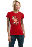 Ladies Red Georgia Icon Map - Georgia Love Peach Cute Culture Home Fun T-shirt