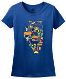 Ladies Royal Illinois Icon Map - Illinois Pride Chicago Love Midwest Cute T-shirt