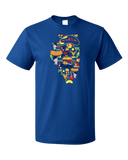 Standard Royal Illinois Icon Map - Illinois Pride Chicago Love Midwest Cute T-shirt