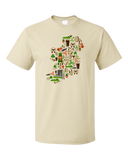 Standard Natural Irish Iconography Map - Ireland Eire Pride Heritage Cute T-shirt