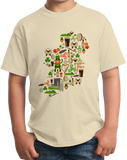 Youth Natural Irish Iconography Map - Ireland Eire Pride Heritage Cute T-shirt