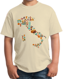 Youth Natural Italy Icon Map - Italian Pride Love Italia Culture Stylish T-shirt