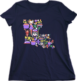 Ladies Navy Louisiana Icon Map - Louisiana Love Cajun Pride NOLA Who Dat T-shirt