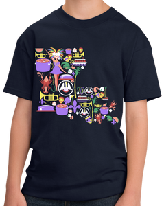Youth Navy Louisiana Icon Map - Louisiana Love Cajun Pride NOLA Who Dat T-shirt