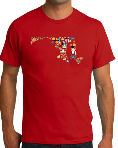 Standard Red Maryland Icon Map - Maryland Chesapeake Bay Pride Love Heritage T-shirt