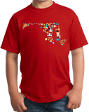 Youth Red Maryland Icon Map - Maryland Chesapeake Bay Pride Love Heritage T-shirt