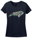 Ladies Navy North Carolina Icon Map - Tar Heel State Pride Heritage Love T-shirt