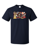 Standard Navy Pennsylvania Icon Map - Pride Love History Heritage Liberty Bell T-shirt