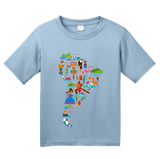 Youth Light Blue South American Icon Map - Argentina Peru Culture Heritage Love T-shirt