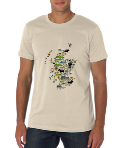 Standard Natural Scottish Icon Map - Scotland Alba Pride Heritage History Love T-shirt