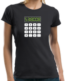 Ladies Black 5318008 - Math Joke Nerd Humor Boobies Funny Engineer Calculator T-shirt