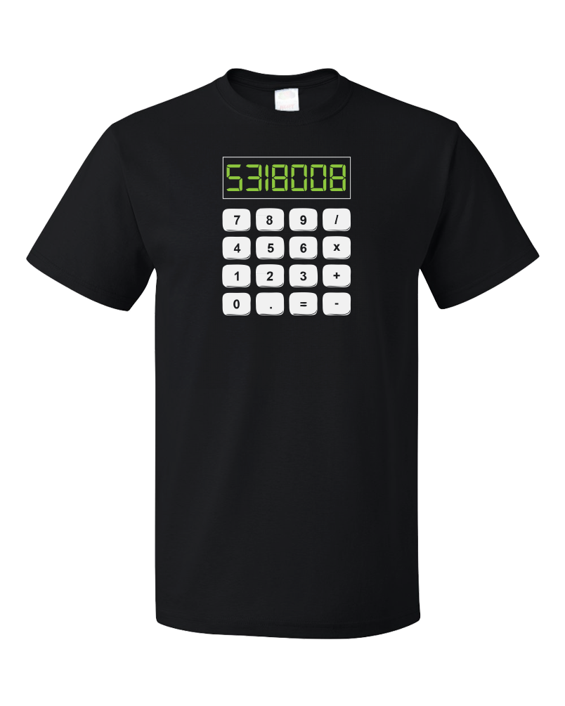 Standard Black 5318008 - Math Joke Nerd Humor Boobies Funny Engineer Calculator T-shirt