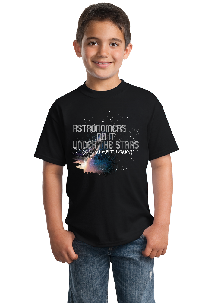 Youth Black Astronomers Do It Under The Stars, All Night Long - Humor Pun T-shirt