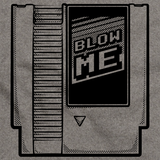 Blow Me | Old School Video Gamer Grey art preview