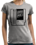 Ladies Grey Blow Me - Old School Video Gamer T-shirt