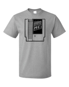 Standard Grey Blow Me - Old School Video Gamer T-shirt