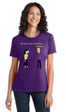 Ladies Purple Totally Cute Chemistry Joke - Humor Science Funny Bad Elements T-shirt