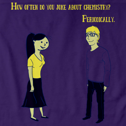 Totally Cute Chemistry Joke Purple art preview