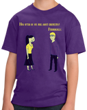 Youth Purple Totally Cute Chemistry Joke - Humor Science Funny Bad Elements T-shirt