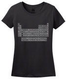 Ladies Black Periodic Table Of The Elements - Chemistry Science Funny Nerd T-shirt