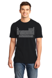 Standard Black Periodic Table Of The Elements - Chemistry Science Funny Nerd T-shirt