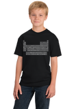 Youth Black Periodic Table Of The Elements - Chemistry Science Funny Nerd T-shirt