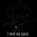 I Need My Space Black Art Preview