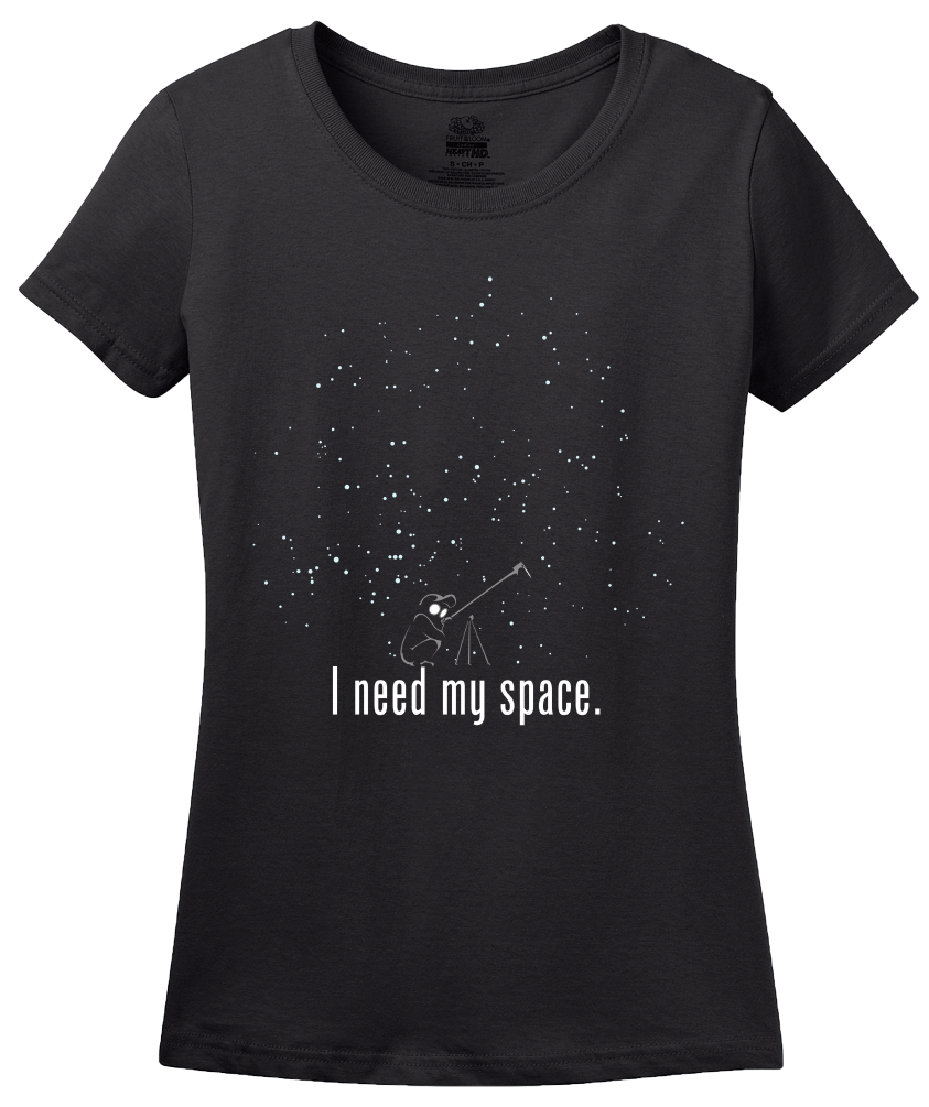 Ladies Black I Need My Space T-shirt