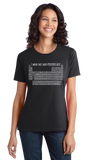 Ladies Black I Wear This Periodically - Chemistry Pun Elements Joke T-shirt