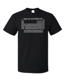 Standard Black I Wear This Periodically - Chemistry Pun Elements Joke T-shirt