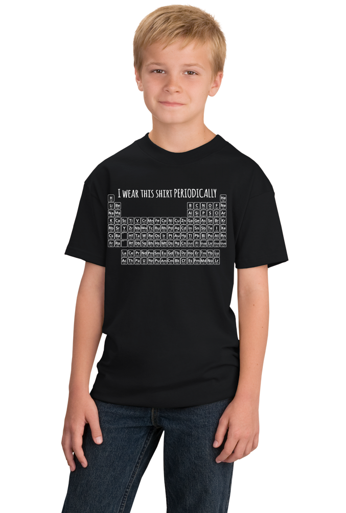 Youth Black I Wear This Periodically - Chemistry Pun Elements Joke T-shirt