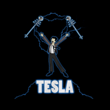 Nikola Tesla Coil Black Art Preview