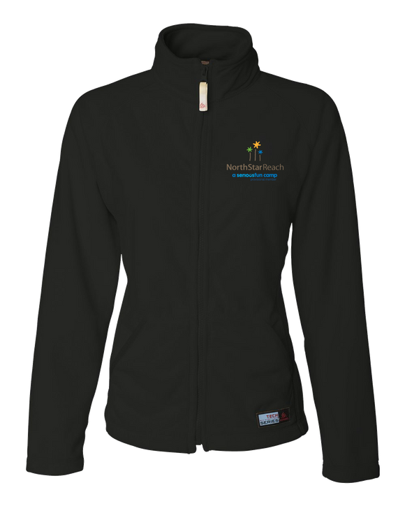 Ladies' Microfleece Full Zip Jacket Black North Star Reach - Ladies Full Zip Fleece Fleece