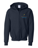Youth Zip Hoodie Navy North Star Reach - Youth Zippered Hoody Fleece