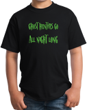 Youth Black Ghost Hunters Go All Night Long - Paranormal Spirit Explorer T-shirt