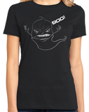 Ladies Black Boo! - Funny Ghost Spooky Paranormal Activity Hunting Scary T-shirt