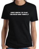 Ladies Black Ghost Hunting: So Scary You Might Boo Yourself - Paranormal Joke T-shirt