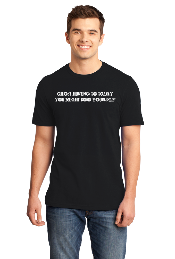 Standard Black Ghost Hunting: So Scary You Might Boo Yourself - Paranormal Joke T-shirt