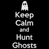 Keep Calm And Hunt Ghosts Black art preview
