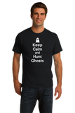 Standard Black Keep Calm And Hunt Ghosts - Paranormal Enthusiast Ghost Hunter T-shirt