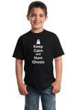 Youth Black Keep Calm And Hunt Ghosts - Paranormal Enthusiast Ghost Hunter T-shirt