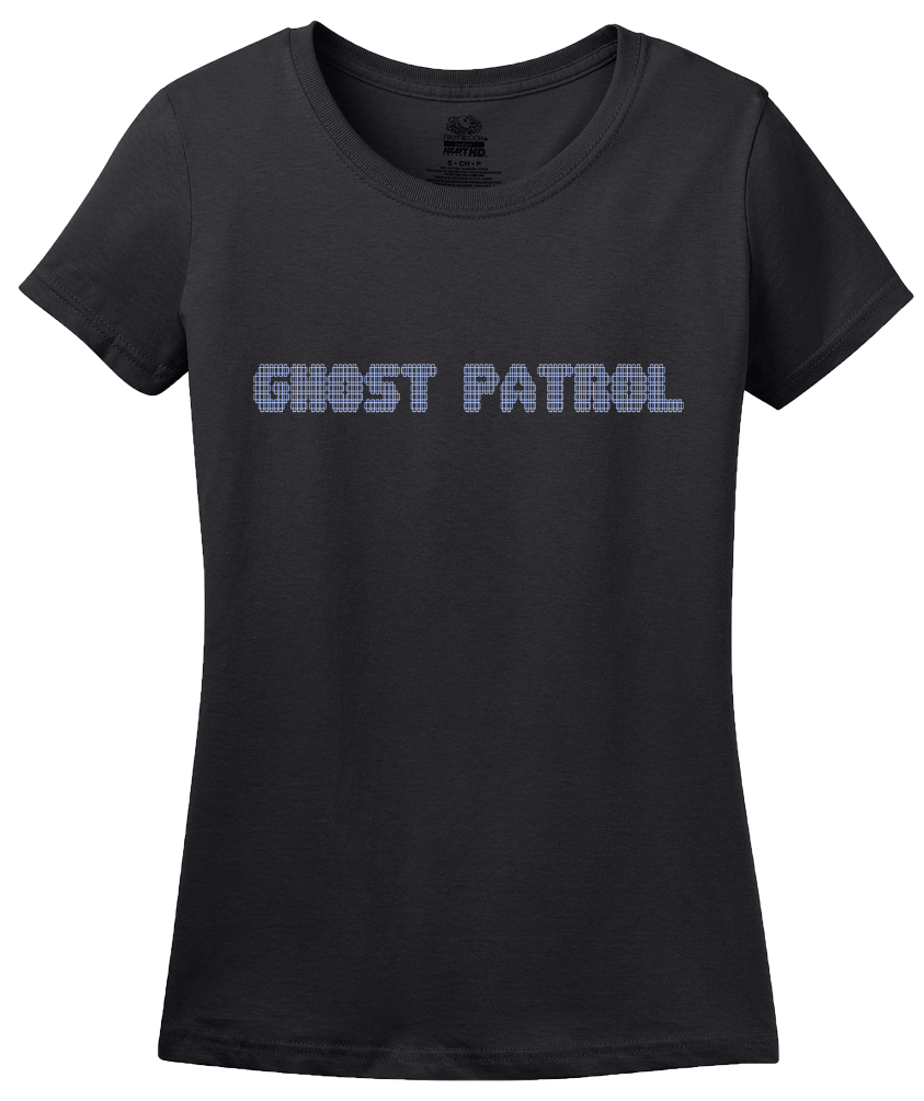 Ladies Black Ghost Patrol - Ghost Hunter Paranormal Activity Exploration T-shirt