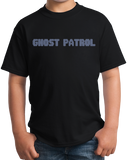 Youth Black Ghost Patrol - Ghost Hunter Paranormal Activity Exploration T-shirt