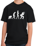 Youth Black Evolution Of The Paintballer - Funny Paintball Player Humor T-shirt