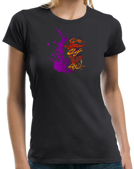 Ladies Black Give Blood, Play Paintball - Funny Paintball Player Humor Fan T-shirt