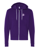 Zip Hoodie Purple 3 Schools, 2 Teams, 1 Family Zip-Hood