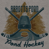 Abbotts Pond, MA Pond Hockey Old Time