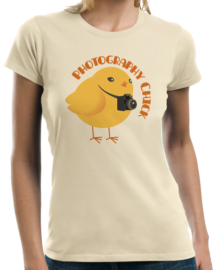 Ladies Natural Photography Chick - Funny Photographer Humor Cute Photo Joke T-shirt